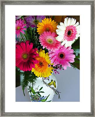 Gerbera Daisy Bouquet Framed Print by Marilyn Hunt
