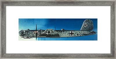 German Aircraft Of World War  Two Focke Wulf Condor Bomber Framed Print by Wilf Hardy