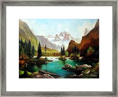 German Alps Framed Print