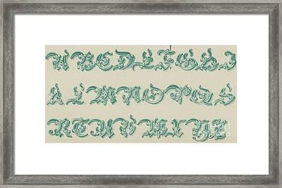 German Arabesque  Framed Print
