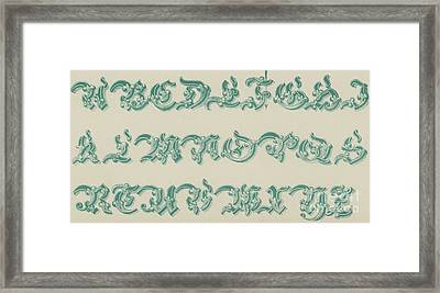 German Arabesque  Framed Print by English School