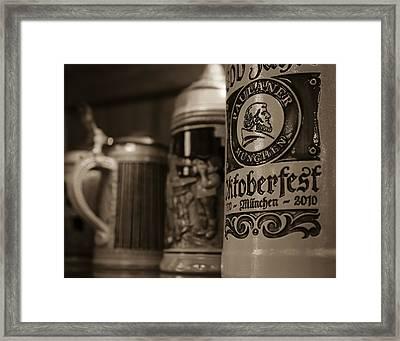 German Beer Steins In Milwaukee Framed Print by Deb Barchus