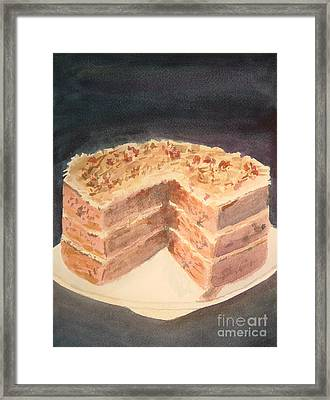 German Chocolate Cake Framed Print