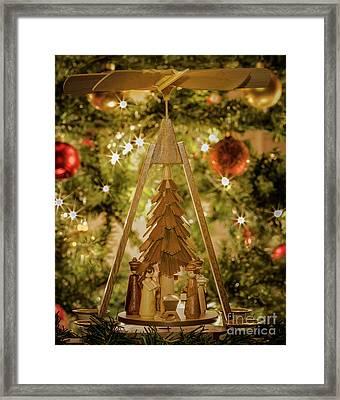German Christmas Pyramid Framed Print