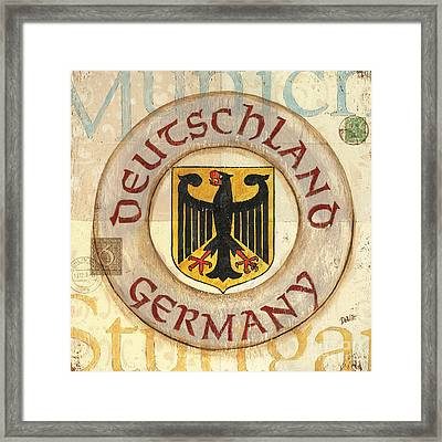 German Coat Of Arms Framed Print by Debbie DeWitt