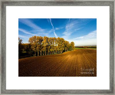 Fields From Above Framed Print
