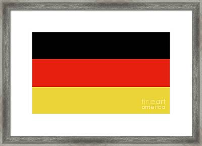 Framed Print featuring the digital art German Flag by Bruce Stanfield