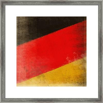 German Flag Framed Print by Setsiri Silapasuwanchai