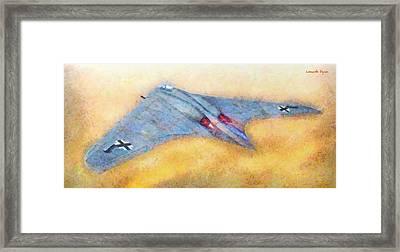 German Flying Wing - Da Framed Print by Leonardo Digenio