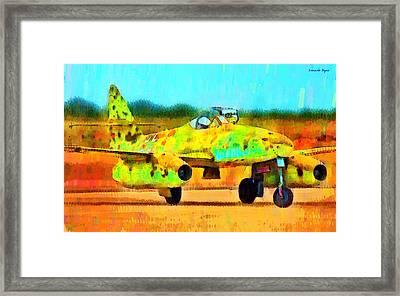 German Messerschmitt Me 262 Hg 2 - Da Framed Print