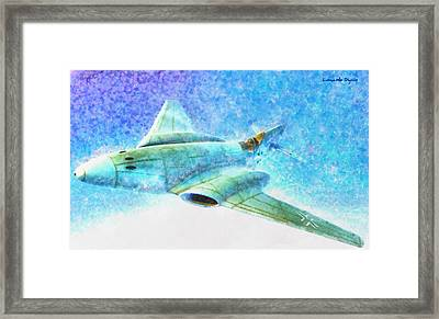 German Messerschmitt Me 262 Hg 3 - Da Framed Print