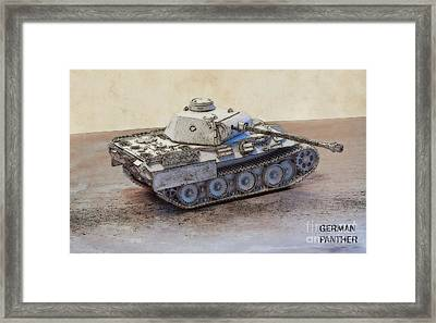 German Panther Tank Framed Print by Randy Steele