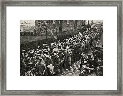 German Prisoners From Neuve Chapelle Framed Print by Vintage Design Pics