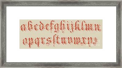 German Riband, Small Framed Print by English School