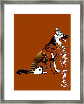 German Sheperd Collection Framed Print by Marvin Blaine