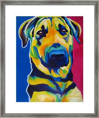 German Shepherd - Duke Framed Print by Alicia VanNoy Call