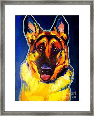 German Shepherd - Sengen Framed Print by Alicia VanNoy Call