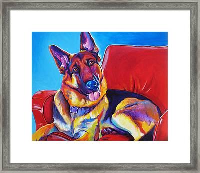 German Shepherd - Zeke Framed Print