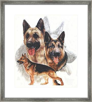 German Shepherd And Ghost Framed Print by Barbara Keith