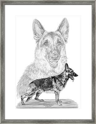 German Shepherd Dogs Print Framed Print by Kelli Swan