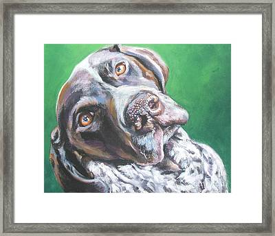 German Shorthaired Pointer Framed Print by Lee Ann Shepard