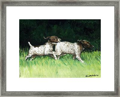 German Shorthaired Pointer Pups Framed Print