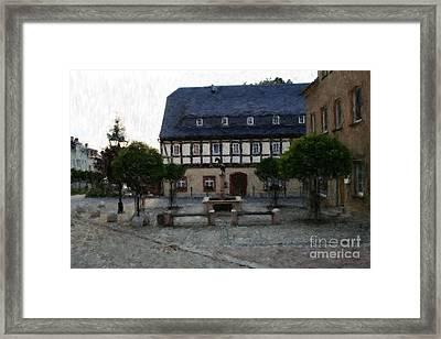 German Town Square Framed Print