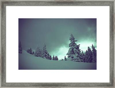 German Winter Landscape Framed Print