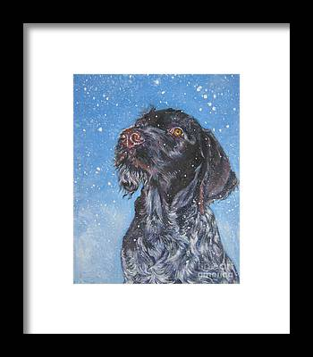 German Wirehaired Pointer Framed Prints