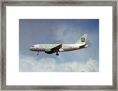 Germania Airbus A319-112 Framed Print