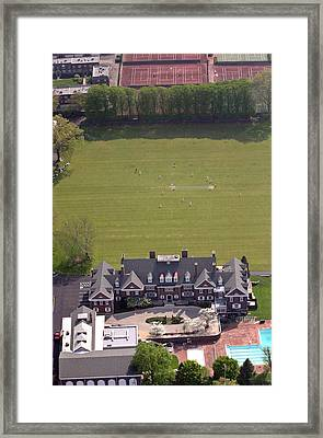 Germantown Cricket Club Courtyard Framed Print by Duncan Pearson