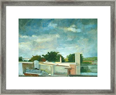 Germantown Rooftops Framed Print by Zois Shuttie