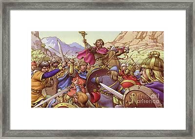 Germanus, The Battling Bishop Framed Print