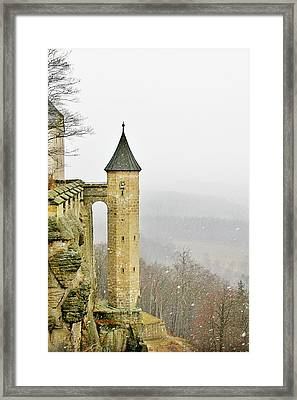 Germany - Elbtal From Festung Koenigstein Framed Print by Christine Till