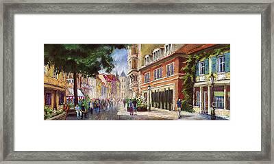 Germany Baden-baden Lange Str Framed Print by Yuriy  Shevchuk
