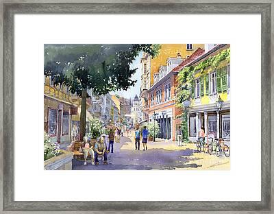 Germany Baden-baden Lange Strasse Framed Print by Yuriy  Shevchuk