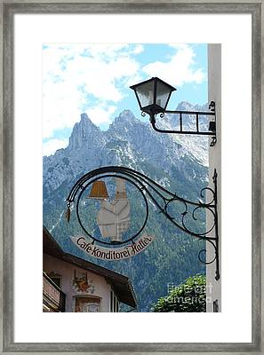 Germany - Cafe Sign Framed Print by Carol Groenen