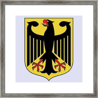 Framed Print featuring the drawing Germany Coat Of Arms by Movie Poster Prints