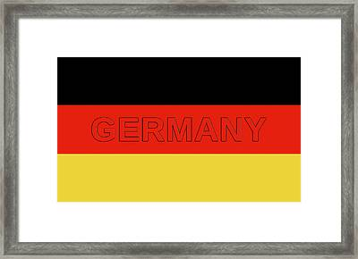 Germany On A German Flag Framed Print by Roy Pedersen