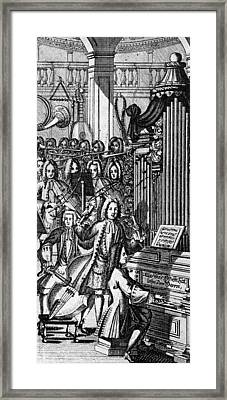 Germany: Orchestra, 1732 Framed Print by Granger
