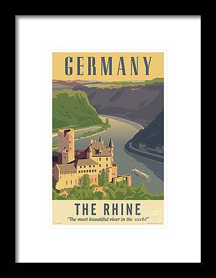 Rhine River Framed Prints