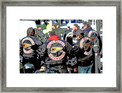 Germany Trial Hell Angels Motorcycle Club Framed Print