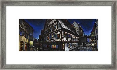 Germany Ulm Fischer Viertel Schwor-haus Framed Print