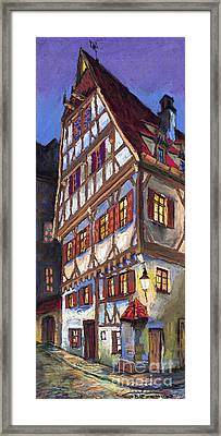 Germany Ulm Old Street Framed Print by Yuriy  Shevchuk