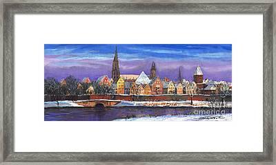 Germany Ulm Panorama Winter Framed Print by Yuriy  Shevchuk