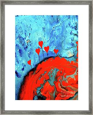 Germinating Love Framed Print by Saribelle Rodriguez