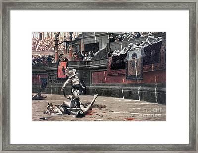 Gerome: Gladiators, 1874 Framed Print by Granger