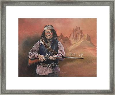 Geronimo Framed Print by Chris Collingwood