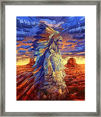 Geronimo Decorative Portrait Framed Print