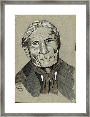Geronimo Framed Print